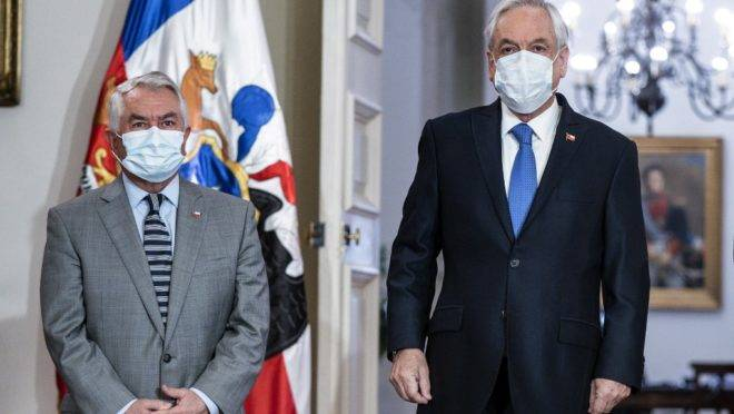 Coronavírus no Chile: ministro e presidente