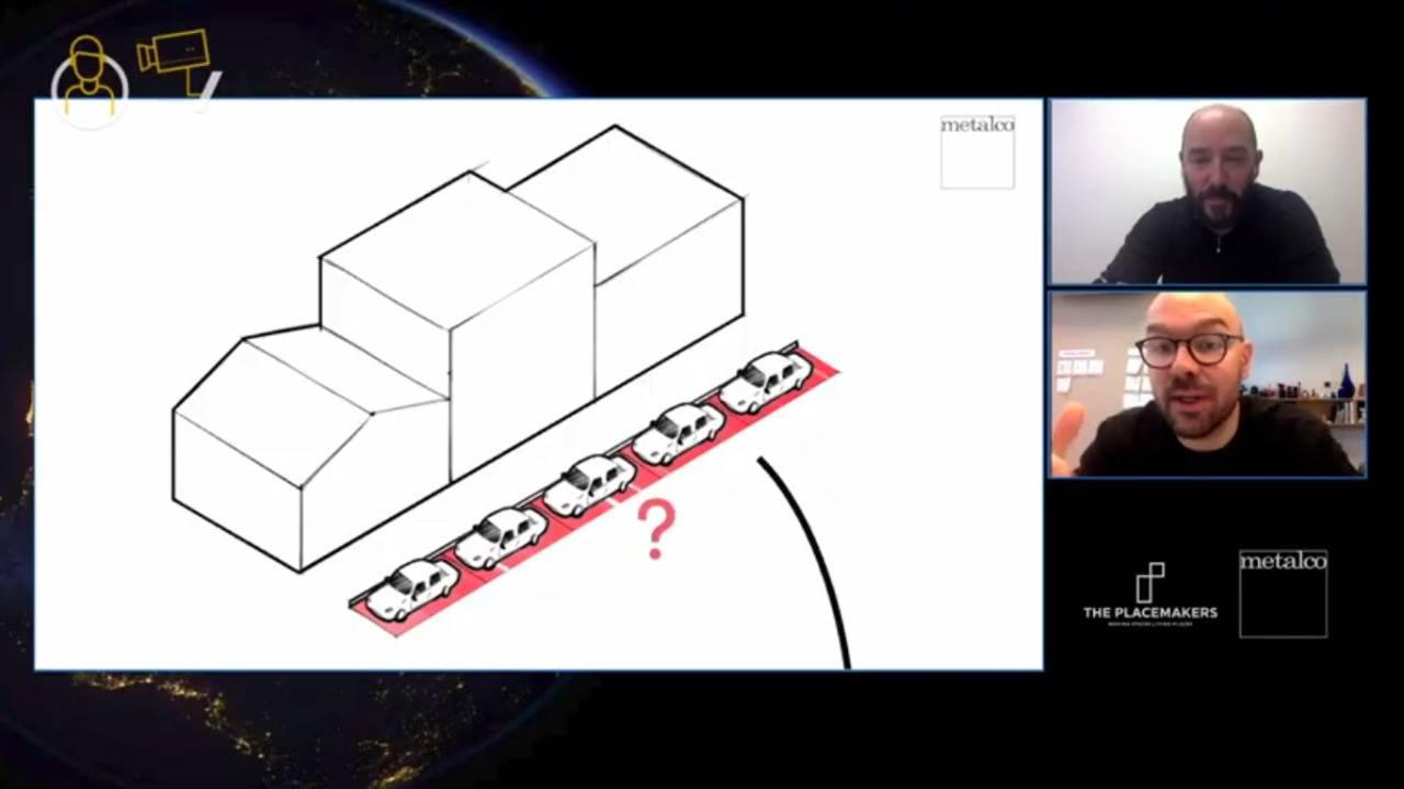 Nichetto está projetando um novo tipo de parklet.