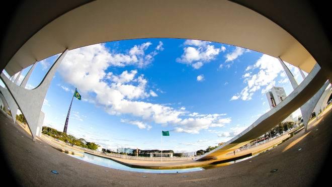 Vista da Praça dos Três Poderes a partir do Palácio do Planalto