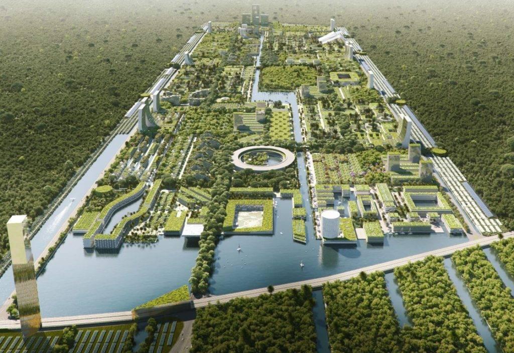 Projeto da  Smart Forest City. Imagem: Stefano Boeri Architetti