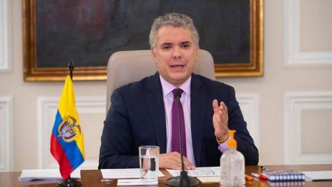 O presidente da Colômbia, Iván Duque.