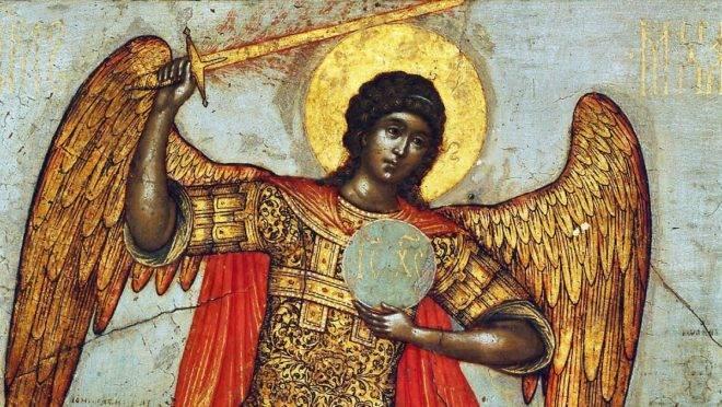 São Miguel retratado pelo artista russo do século XVII Simon Ushakov.