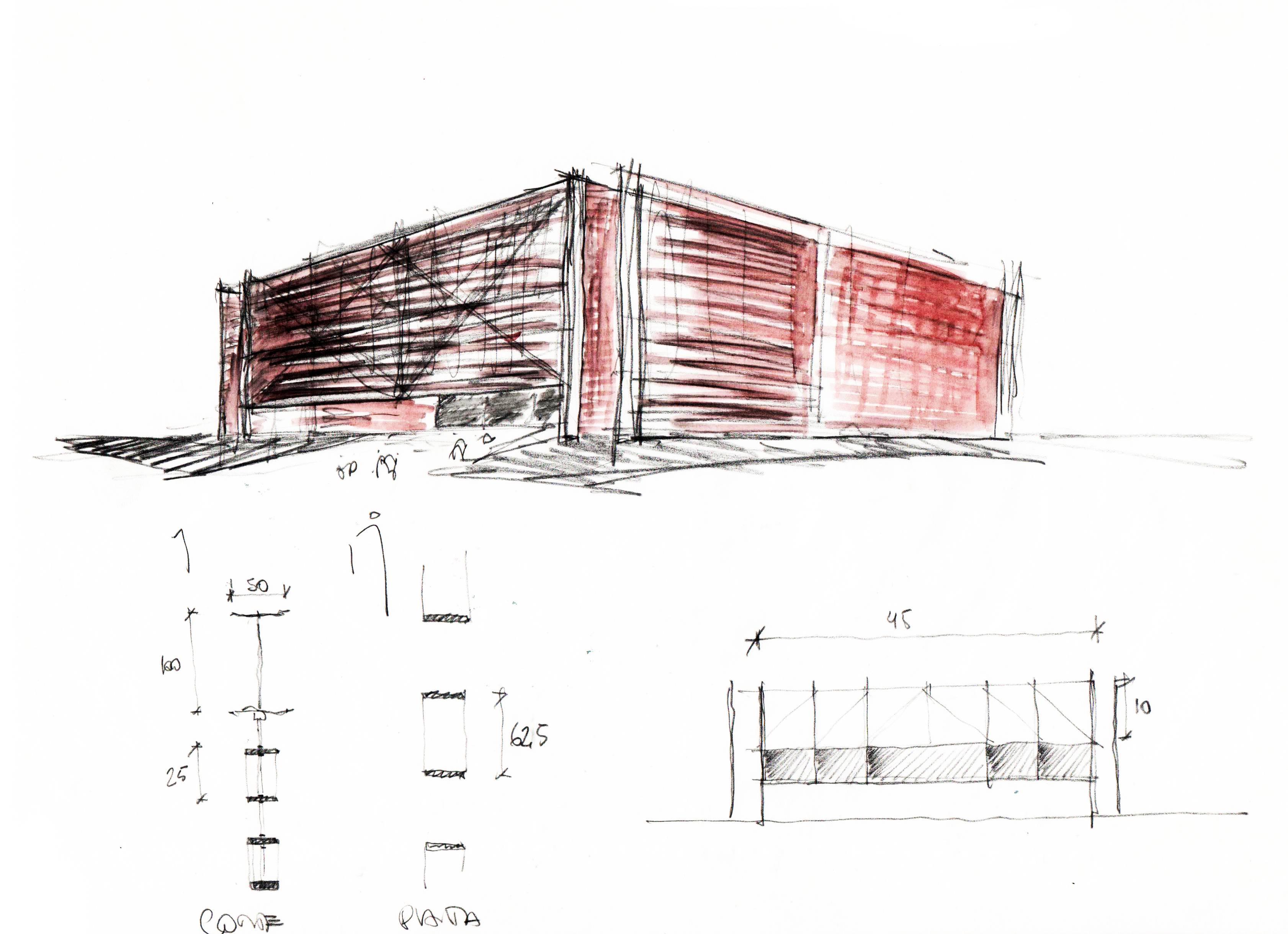 Estudos concurso Pavilhão brasileiro Expo Dubai 2020. Projeto AP Arquitetos, de 2019.
