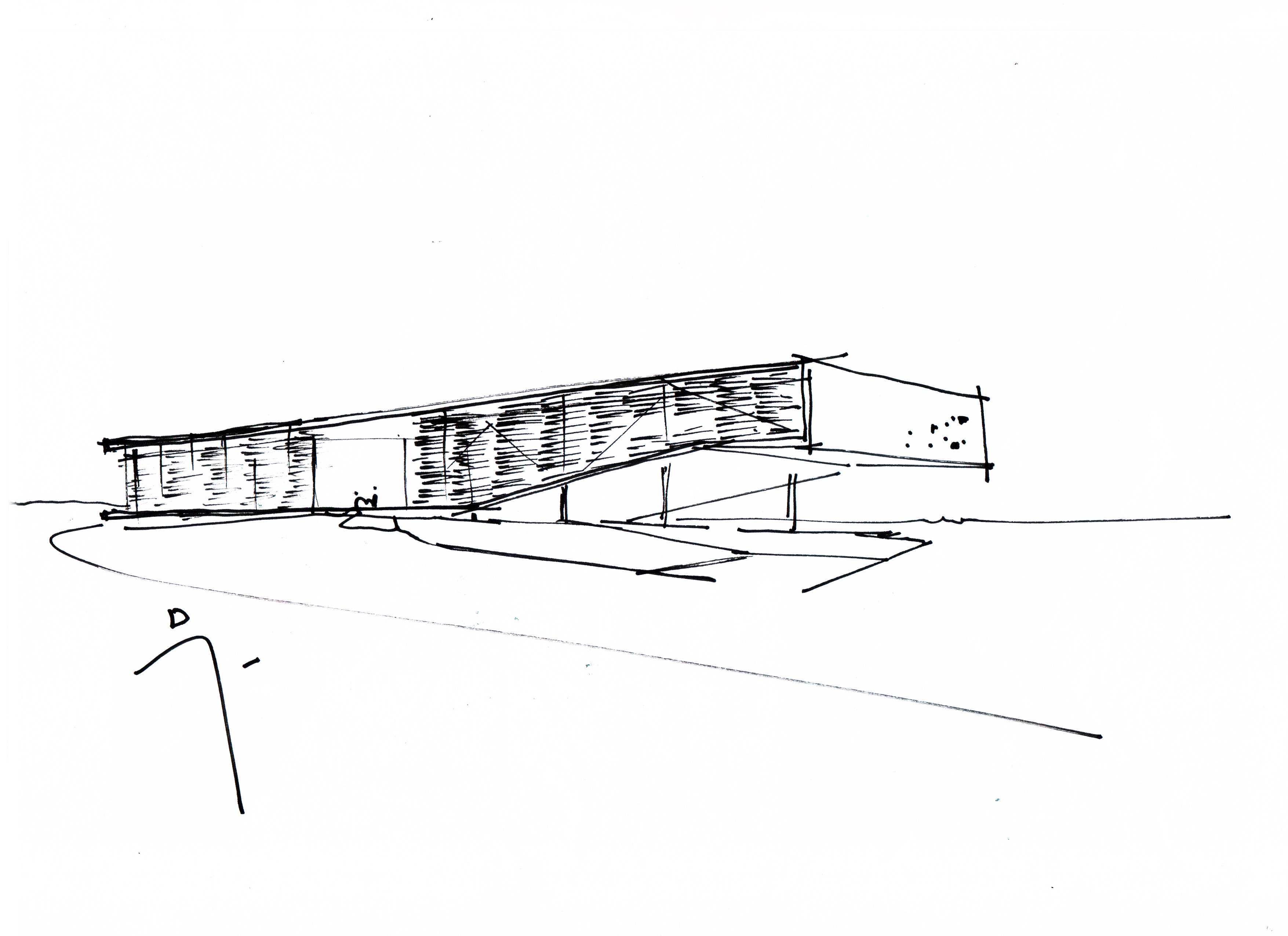 Edifício Refeitório Instituto Federal do Acre na cidade de Tarauacá, em obras. Projeto AP Arquitetos, de 2018.