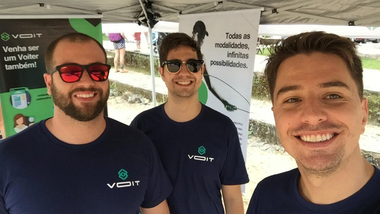 Fundadores da VOIT Marco Cazarim, Thiago Paz e  Gustavo Bakai. Foto: Divulgação