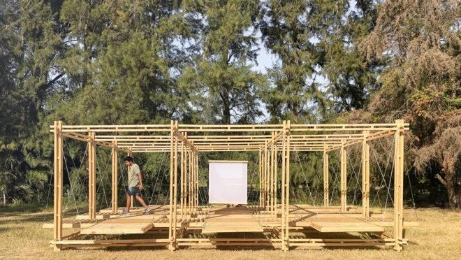 Pavilhão Ginga foi a única construção brasileira entre as 10 arquiteturas experimentais da Hello Wood Argentina 2020.