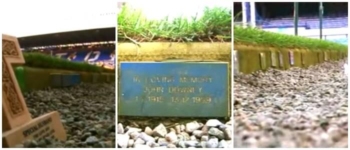 No Goodison Park não há mais espaço para as placas com nomes de torcedores.