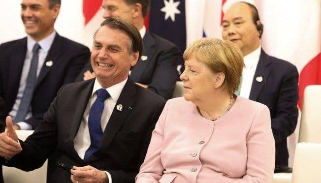 Bolsonaro e Angela Merkel são essenciais para tirar o acordo UE-Mercosul do papel