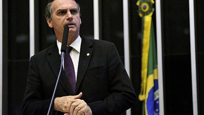 Jair Bolsonaro em pronunciamento no plenário da Câmara, em 2017, na época em que era deputado federal.