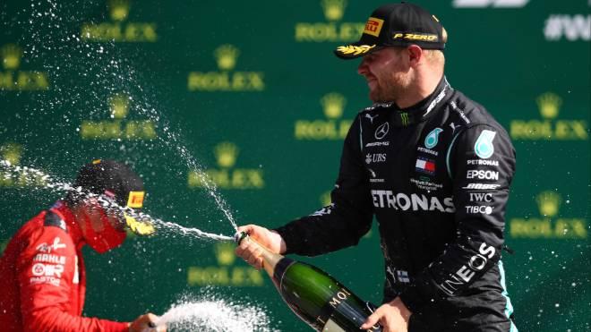 Bottas, da Mercedes, celebra vitória no GP da Áustria de Fórmula 1