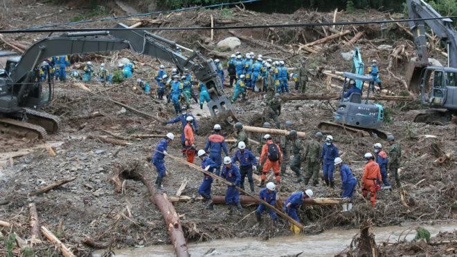 japão inundações