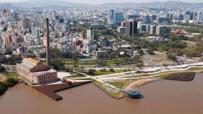 Orla do Guaíba, em Porto Alegre