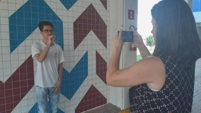 O app foi criado por estudantes do Paraná e ficou entre os finalistas do concurso Maratona Unicef Samsung deste ano