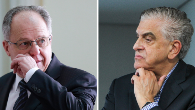 Presidentes da FPF, Hélio Cury, e do Athletico, Mario Celso Petraglia, querem o retorno do Estadual, mesmo com jogos em Santa Catarina.