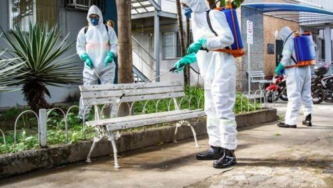 Higienização de espaços públicos é uma das ações de combate à Covid a cargo dos municípios