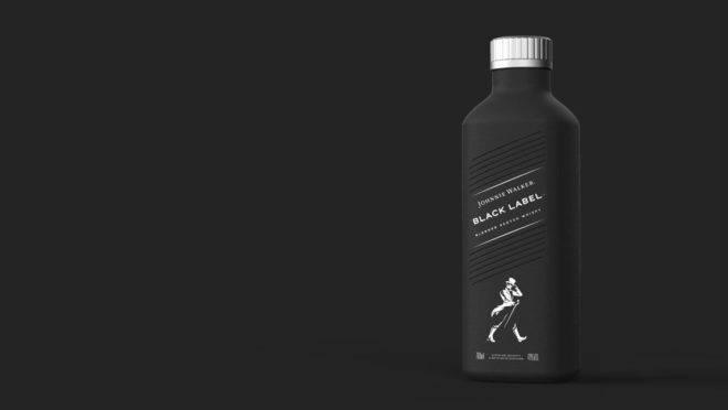 A nova garrafa da Johnnie Walker é totalmente livre de plástico.