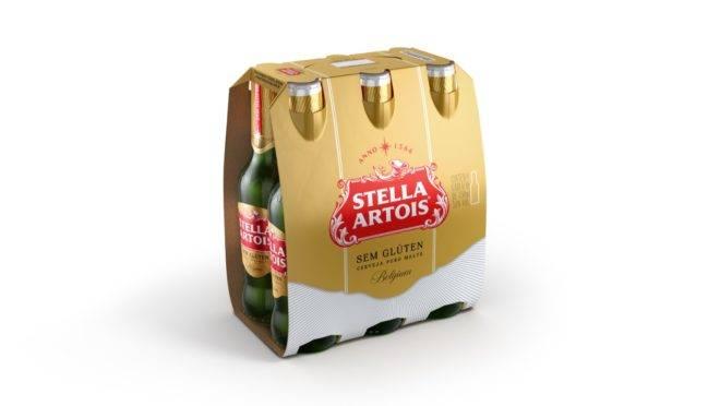 Stella Artois na versão sem glúten.