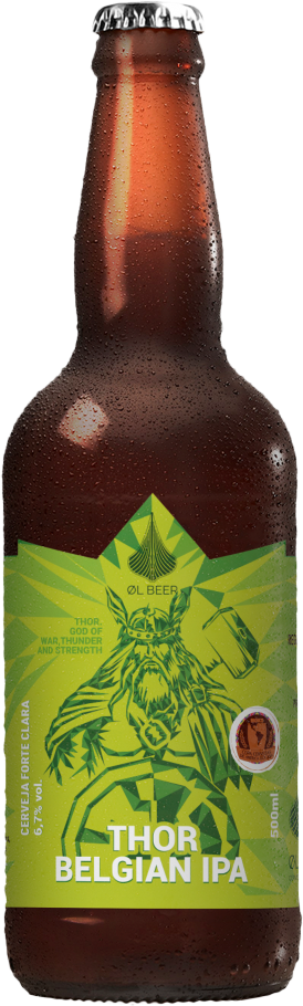 <strong>Thor Belgian IPA , da Cervejaria: ØL Beer</strong>: 500 ml, teor alcoólico 6,7%, preço: R$ 16.