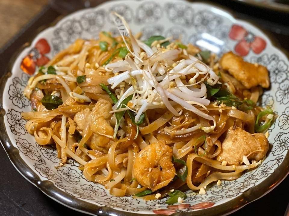 Pad thai de frango do Thai Restaurante Tailandês. Foto: Divulgação