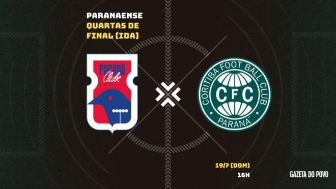Paraná e Coritiba se enfrentam na Vila Capanema na ida das quartas de final do Paranaense