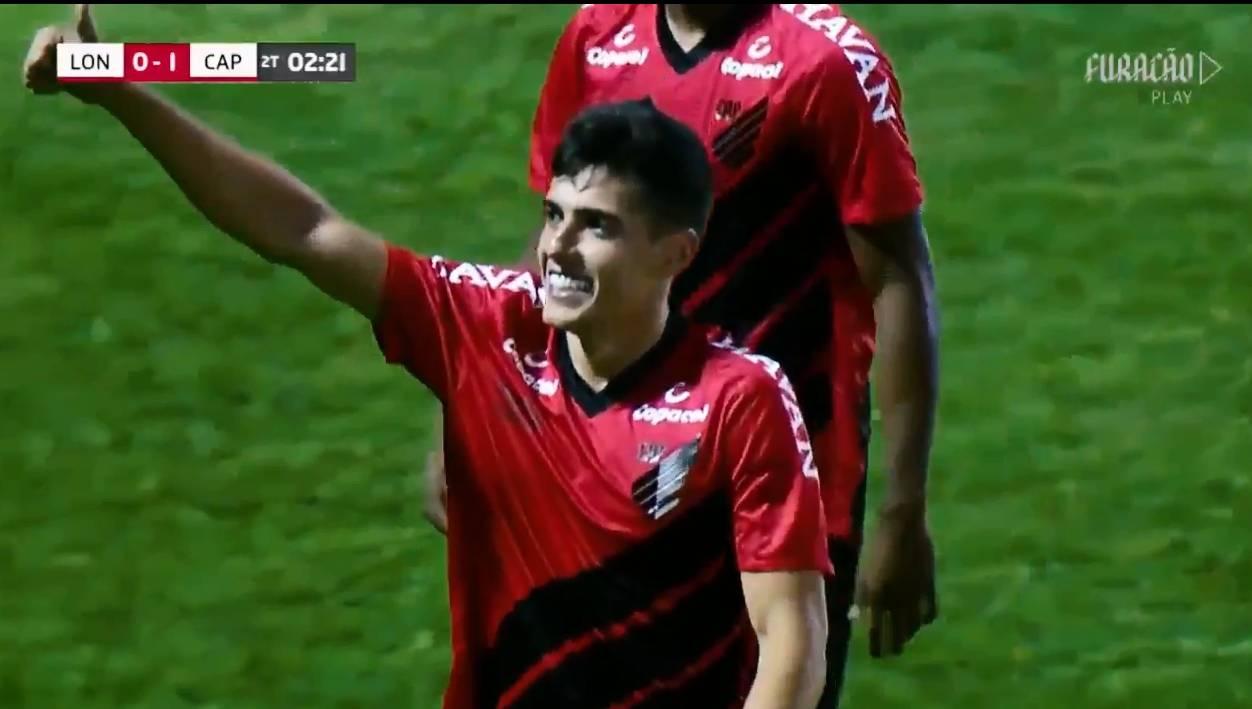 Cittadini comemora o gol do Furacão. Foto: Reprodução, Furacão Play