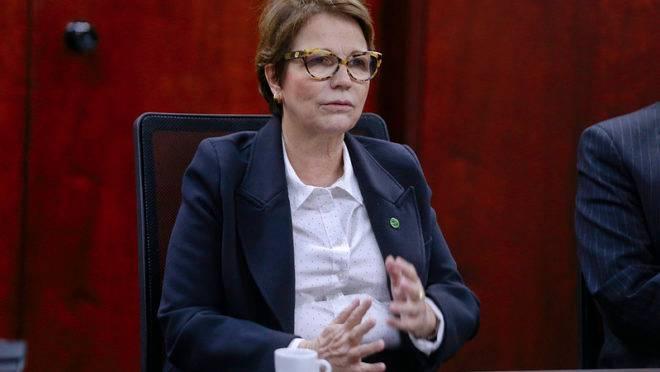 A ministra da Agricultura Tereza Cristina.