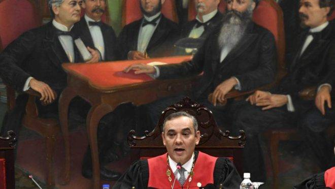 O presidente da Suprema Corte da Venezuela, Maikel Moreno