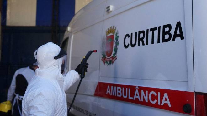 Higienização de ambulância