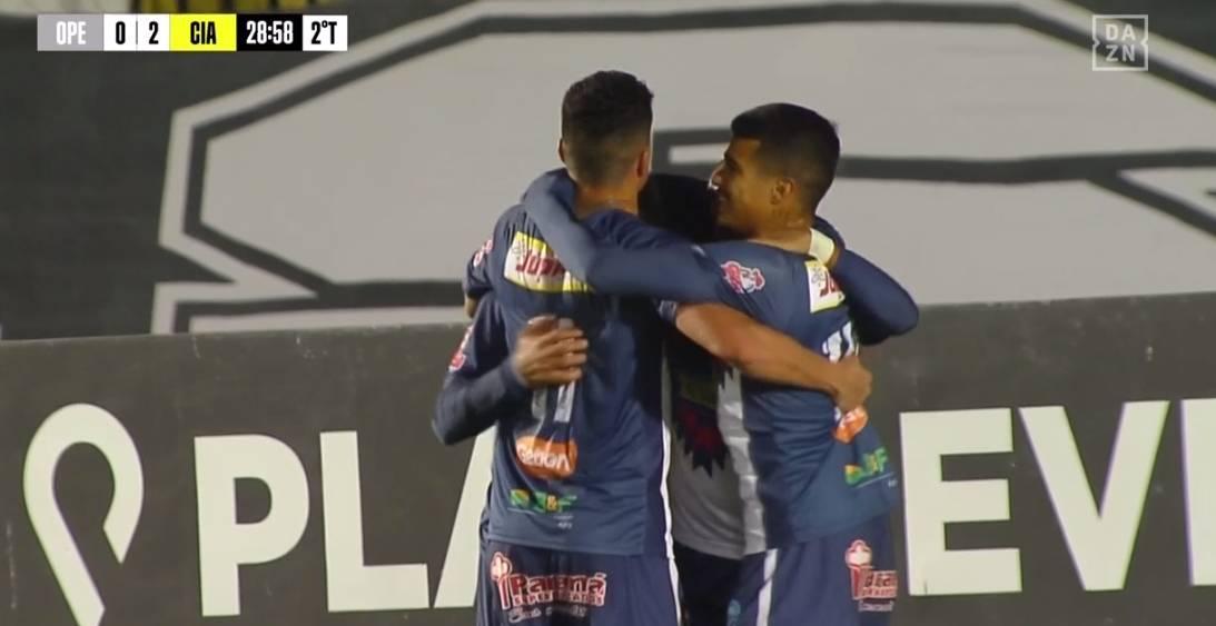 Jogadores do Cianorte comemoram o segundo gol. Foto: Reprodução Dazn