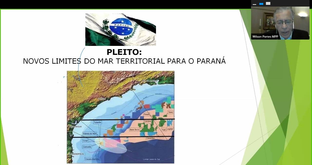 Proposta do Pró-Paraná é traçar linhas paralelas para a demarcação marítima no Paraná. Foto: Reprodução