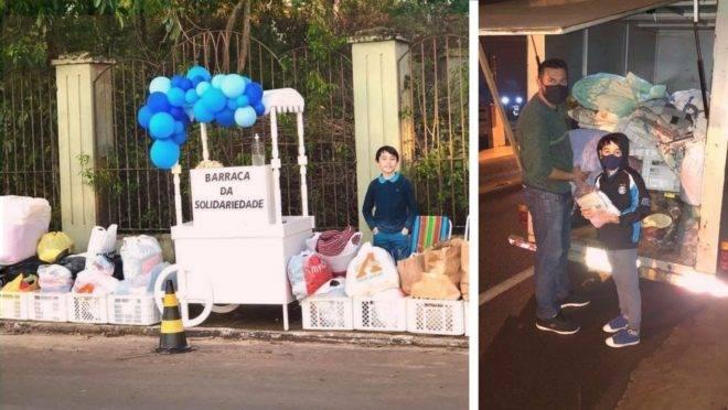 O gaúcho Enzo Romitti montou o espaço no Centro da cidade de Bom Retiro do Sul e recebeu diversas doações
