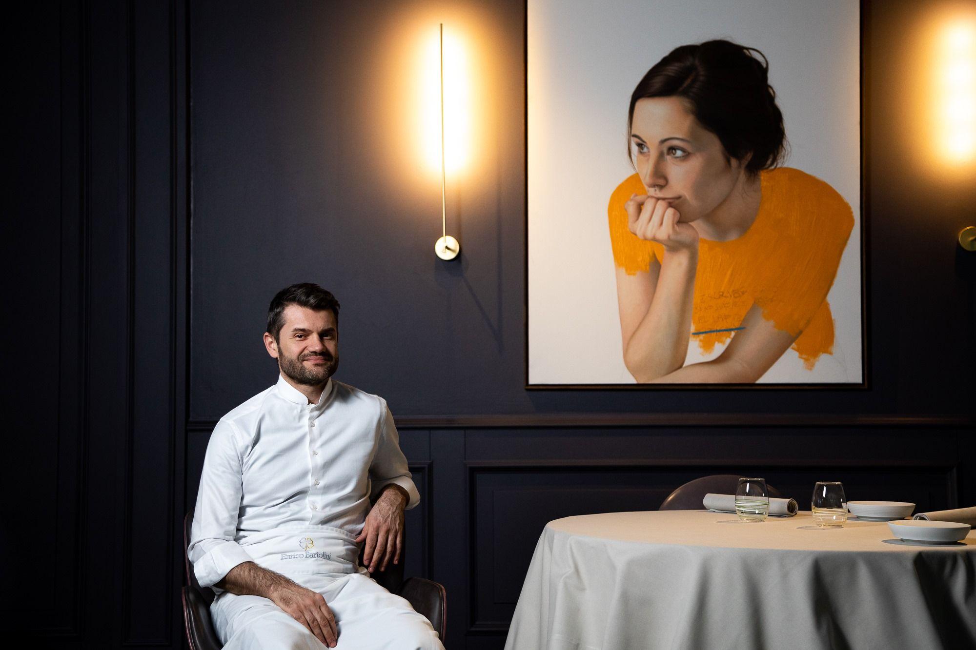 Enrico Bartolini recebeu em 2019 a terceira estrela Michelin pelo seu restaurante de mesmo nome em Milão