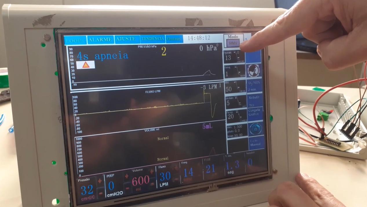 Ventilador pulmonar desenvolvido no IFPR deve custar até R$ 12 mil.