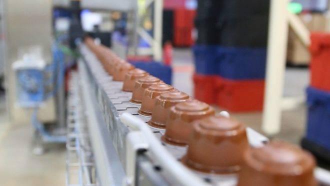 Linha de produção Nestlé