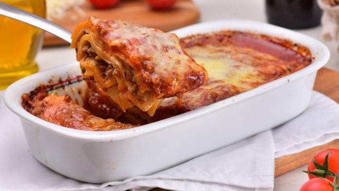 Lasanha Bolonhesa: um dos pratos individuais que ganhou versão de até um quilo, para duas ou três pessoas.