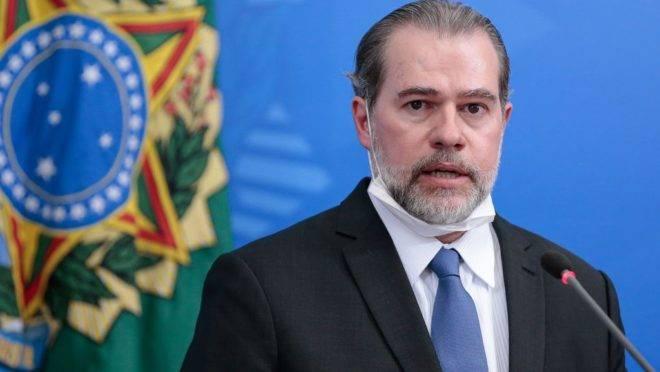 O ministro do Supremo Tribunal Federal, Dias Toffoli: teste negativo para Covid-19.