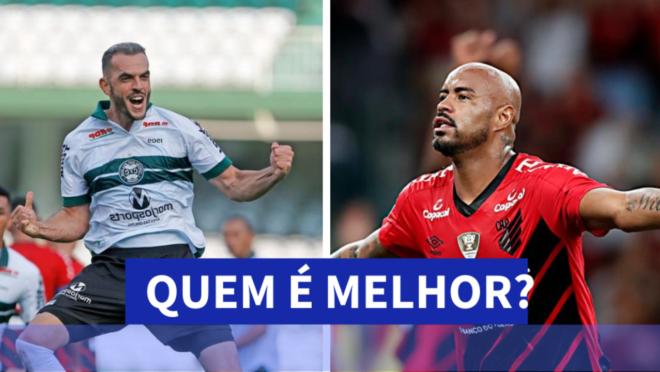 Rhodolfo, do Coritiba, e Thiago Heleno, do Athletico: confira a comparação das equipes antes do Atletiba!