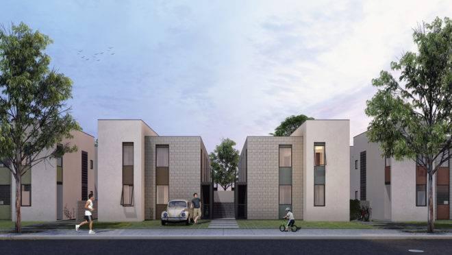Projeto vencedor do Concurso Nacional de Projetos para Habitação de Interesse Social promovido pelo CAU-GO. Imagem: Oficina Urbana de Arquitetura – OUA/Divulgação