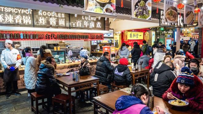Restaurante em Pequim, capital da China