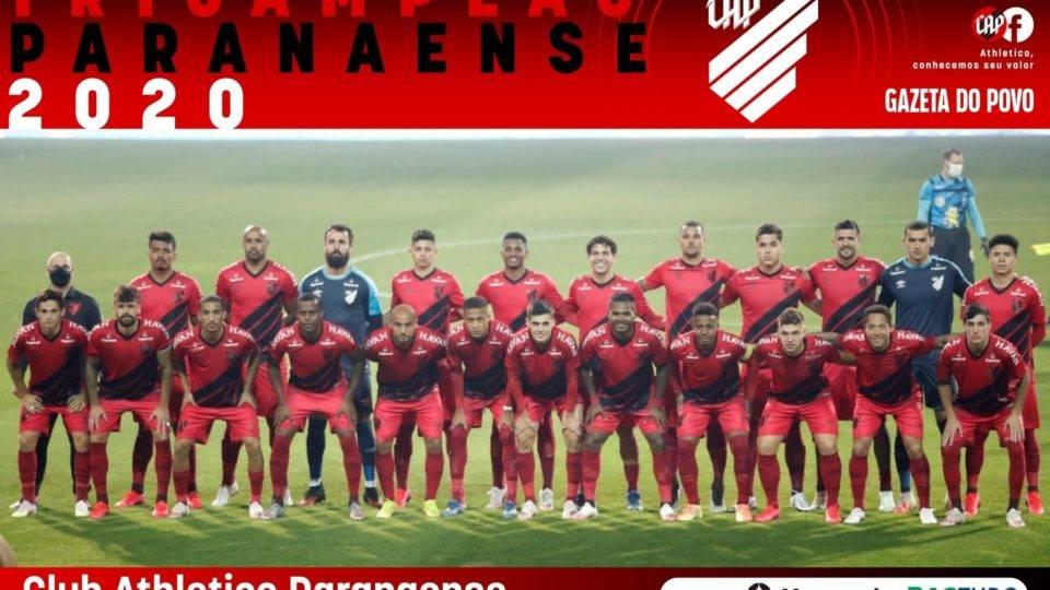 Baixe o pôster do Athletico tricampeão Paranaense 2020