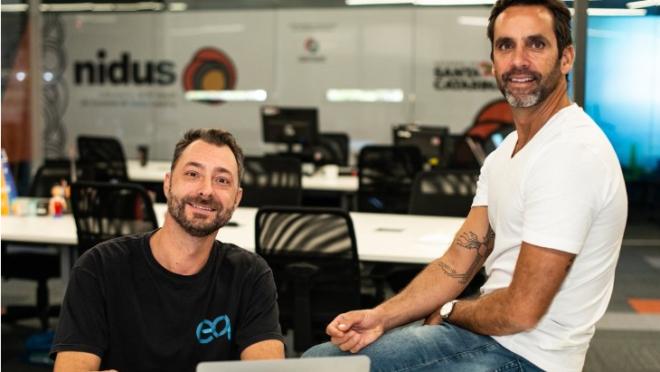 Marcos Arante (esq.) e Fabio Nunes, fundadores da Equilibrium.