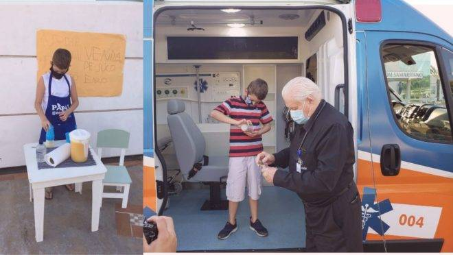 O valor arrecadado não compra um respirador, mas o hospital quis dar ao Enzo a oportunidade de entregar o resultado de seus esforços