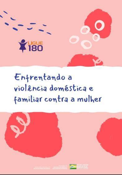 Reprodução da capa da cartilha sobre violência doméstica