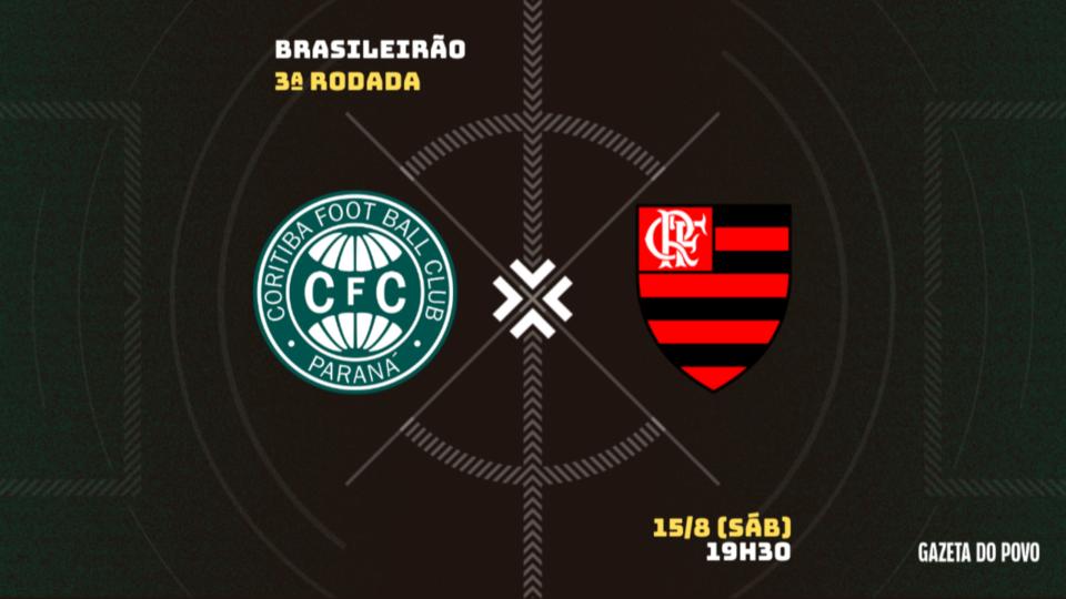Em crise, Coritiba recebe o pressionado Flamengo; tudo sobre o jogo