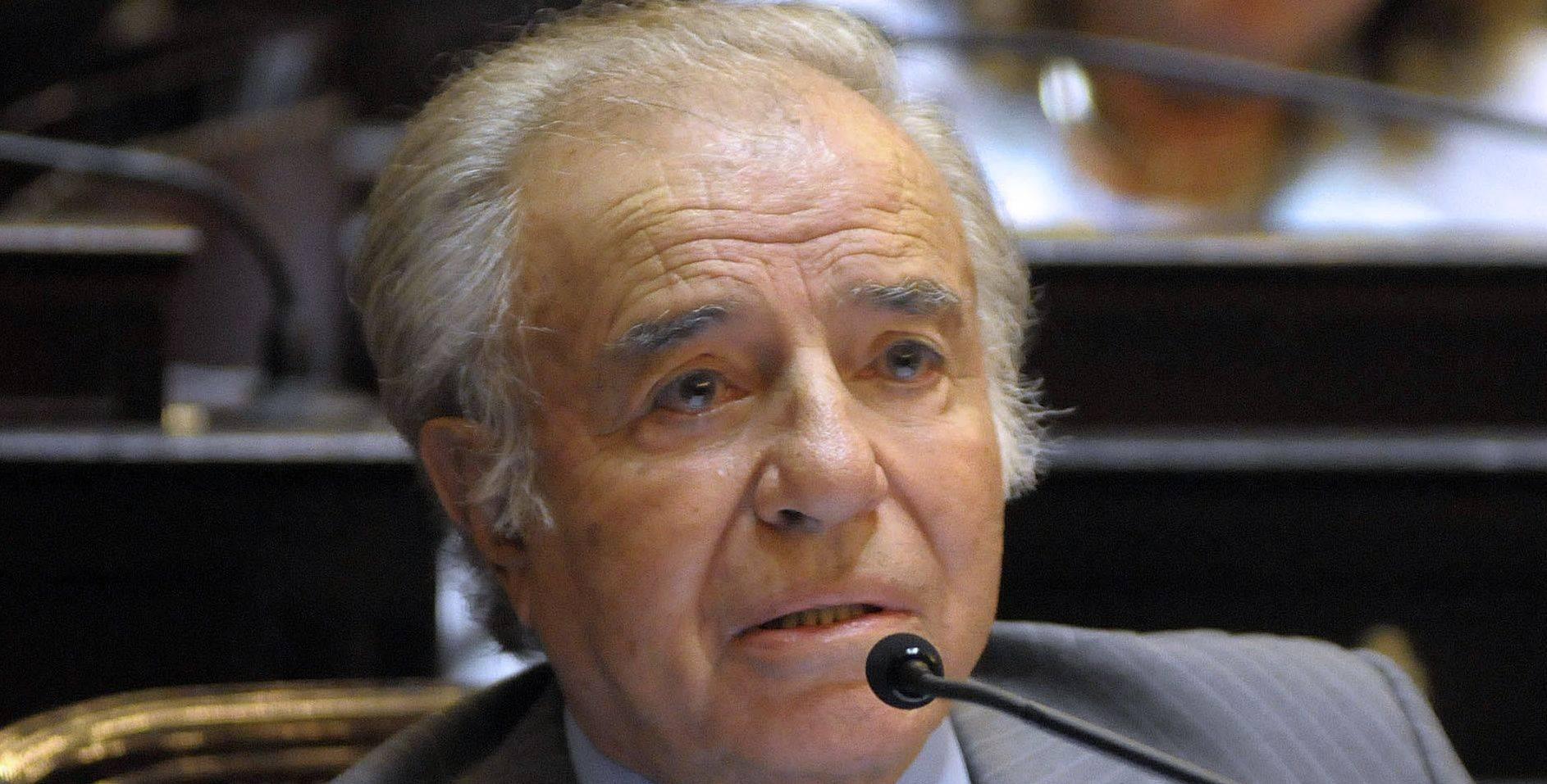 Ex-presidente Carlos Menem
