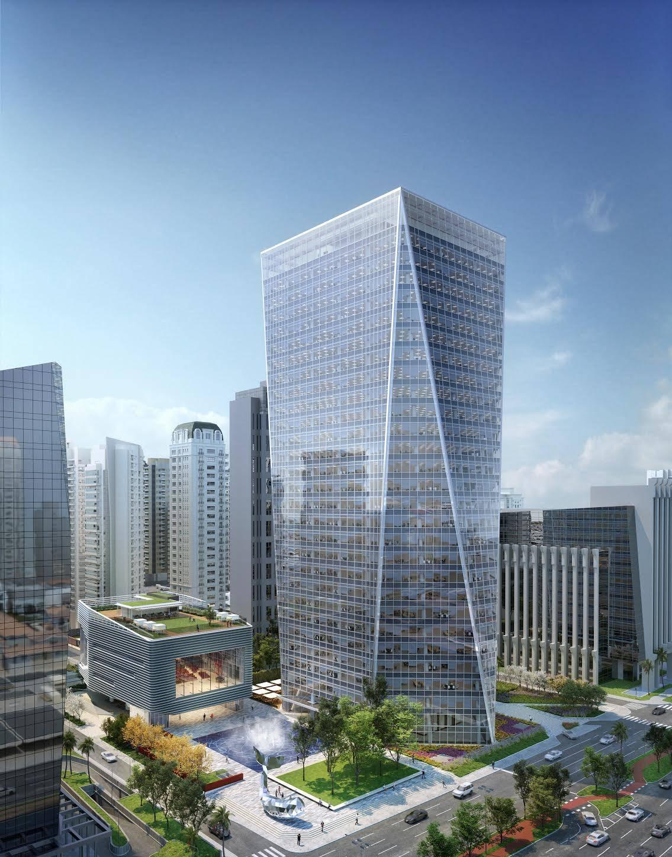 Edifício corporativo B32, da  Birmann SA, terá praça aberta para a rua. Imagem: Reprodução
