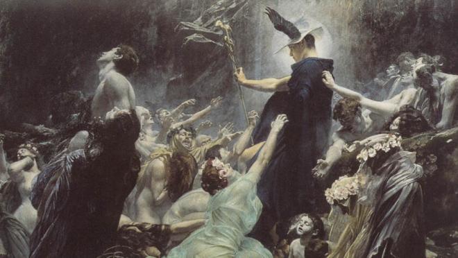 Almas nas margens do Acheron (1898), de Adolf Hirémy-Hirsch.