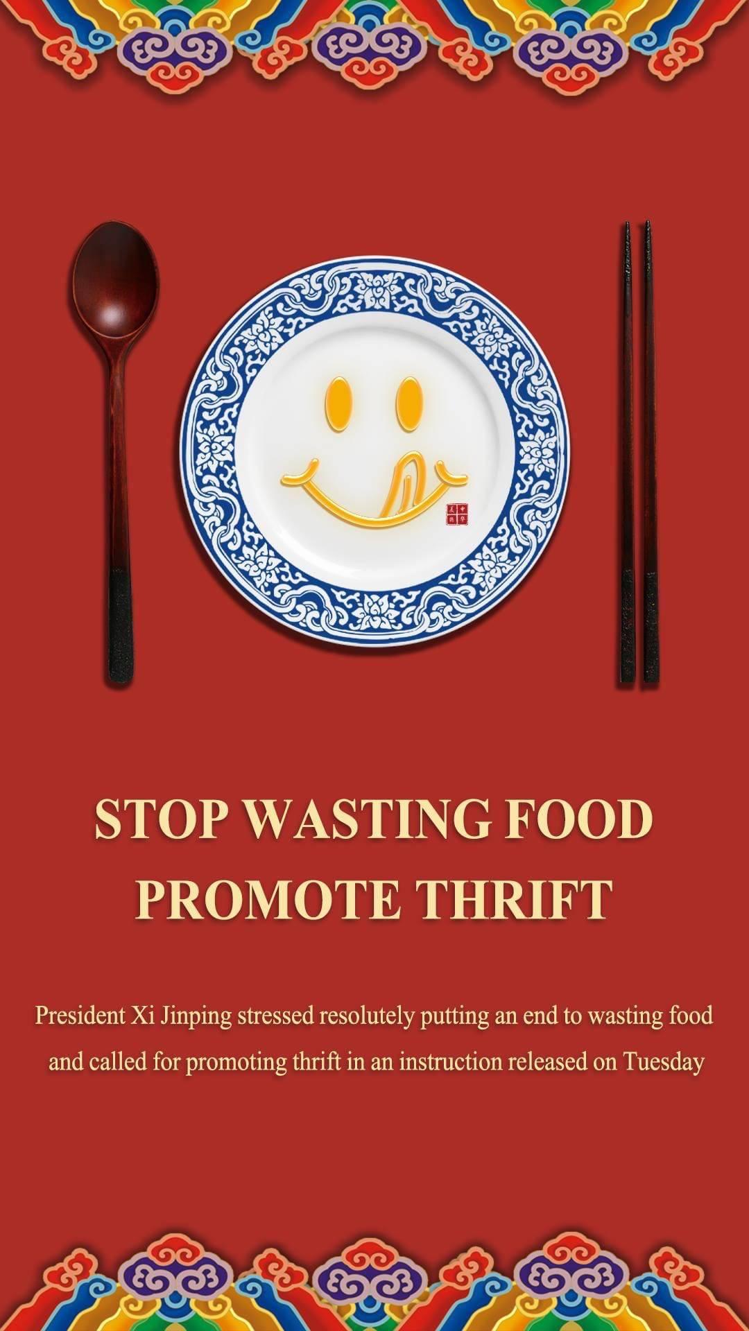 Campanha Oficial contra o desperdício de comida.