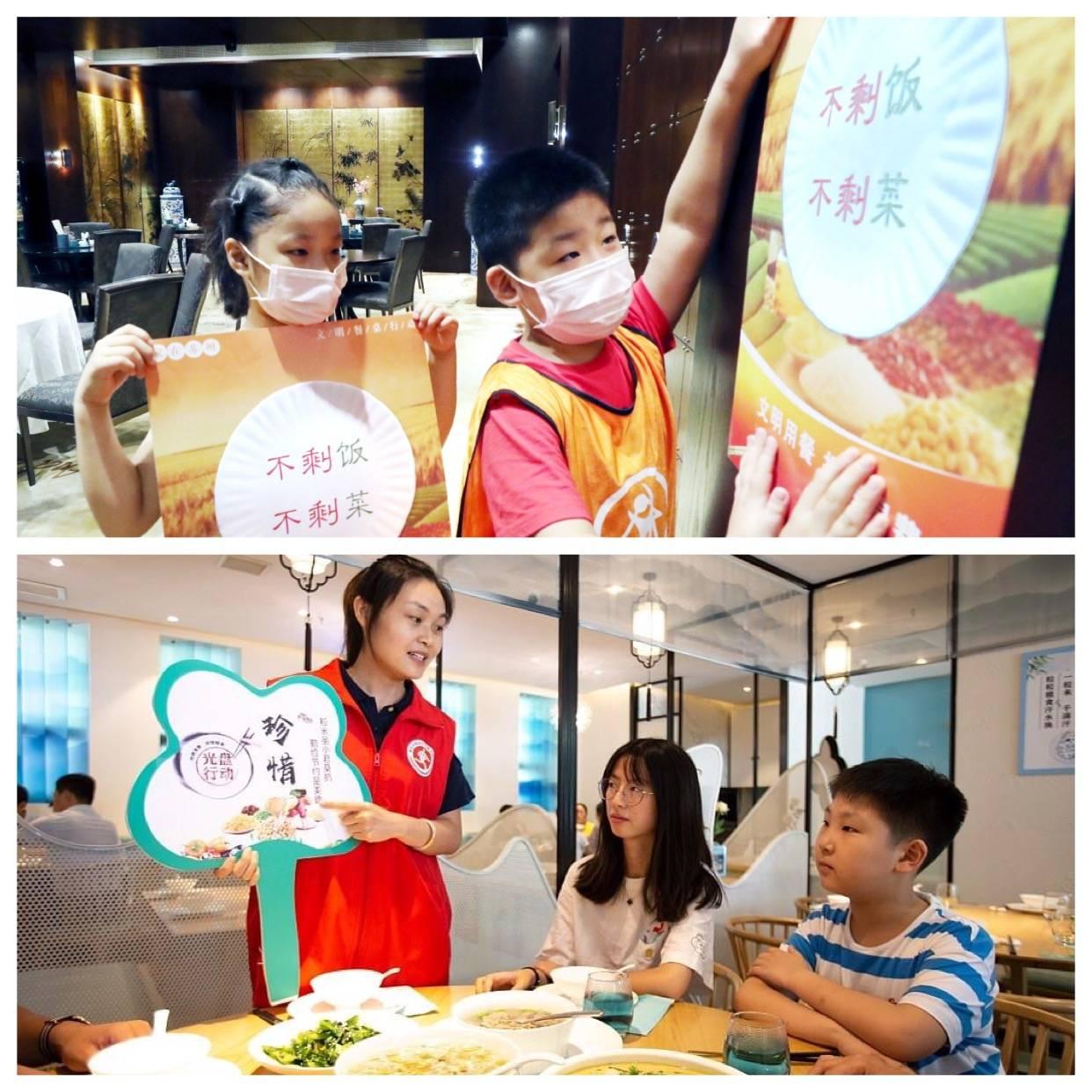Jovens voluntários colaboram com  a campanha colando cartazes que incentivam a redução de desperdício de alimentos por todo pais.
