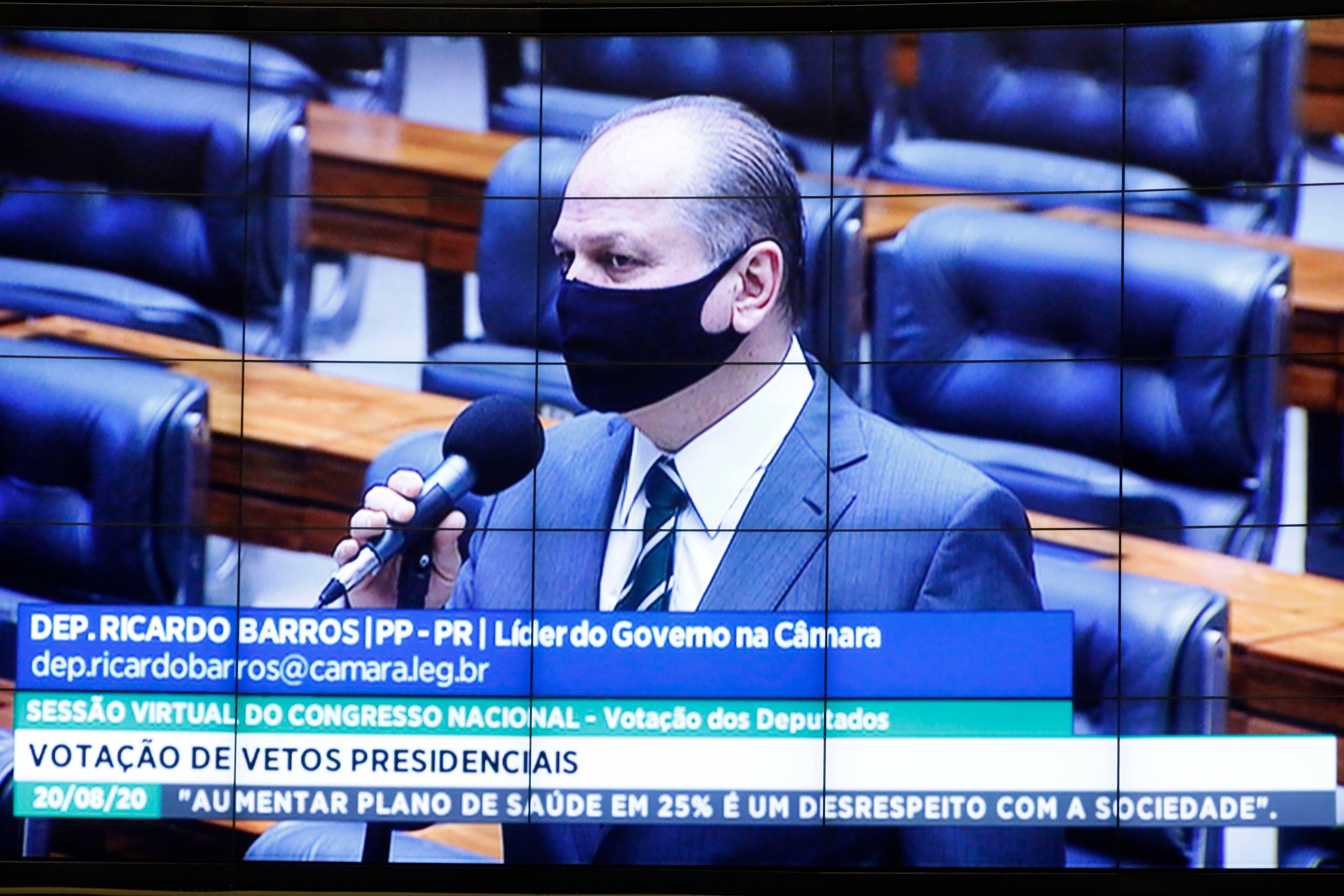 Ricardo Barros obtém vitória na sua estreia como líder do governo Bolsonaro. Foto: Câmara dos Deputados